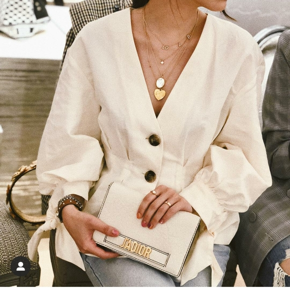 Zara Top with Tie Knot Sleeves